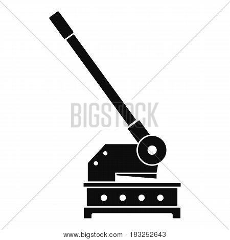 Cutting machine icon in simple style isolated on white background vector illustration