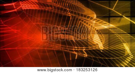Technology Background as a Digital Abstract Art 3D Illustration Render