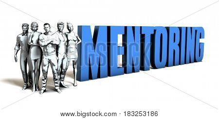 Mentoring Business Concept as a Presentation Background 3D Illustration Render