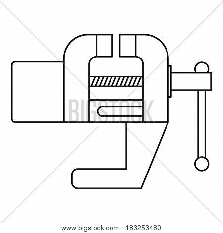 Vise tool icon in outline style isolated on white background vector illustration