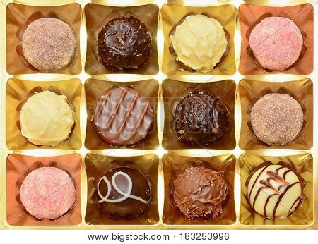Belgian Pralines Background