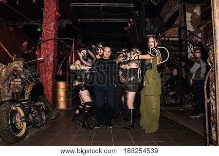Fashion Performance Art Chaos In Night Club Black Rose In Kirov City In 2016