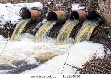 Rapid Water flows from large pipes 5