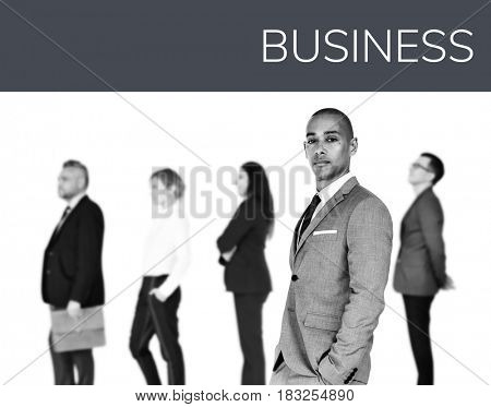 Business people lifestyle gesture confidence profession standing on background