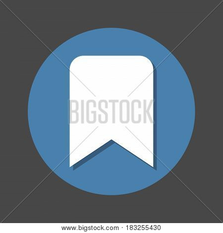 Bookmark flat icon. Round colorful button circular vector sign with shadow effect. Flat style design