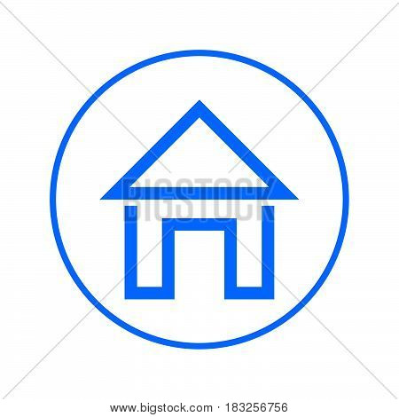 Home page House circular line icon. Round colorful sign. Flat style vector symbol