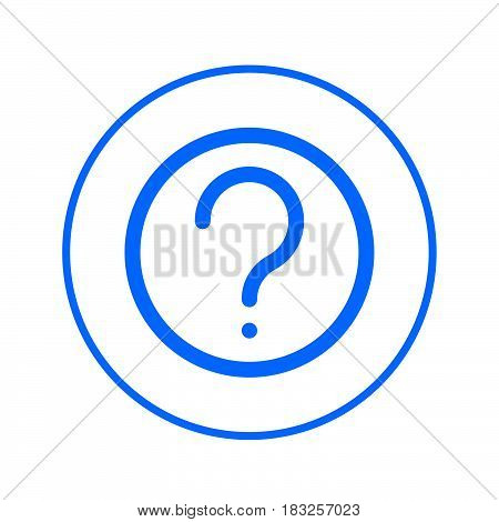 FAQ Question mark circular line icon. Round colorful sign. Flat style vector symbol