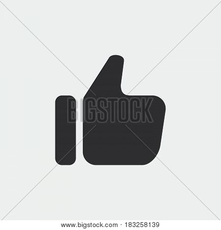 thumbs up icon isolated on white background .
