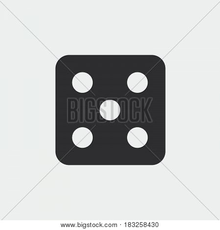 dice icon isolated on white background .