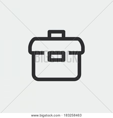 briefcase icon isolated on white background .