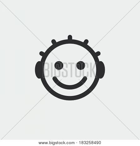 baby icon isolated on white background .
