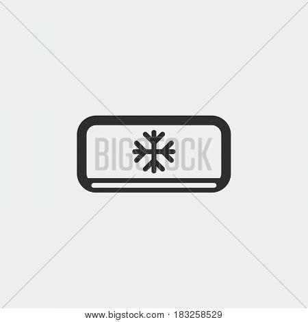 AC unit icon isolated on white background .
