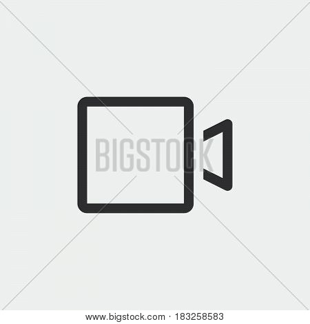video camera icon isolated on white background .