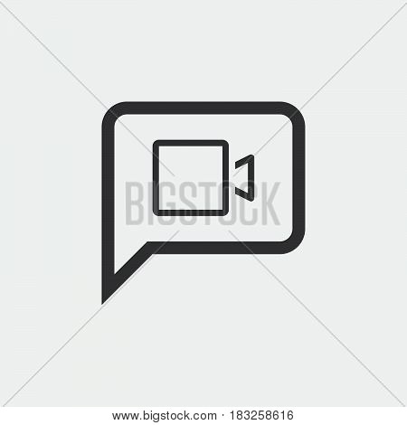 video chat icon isolated on white background .