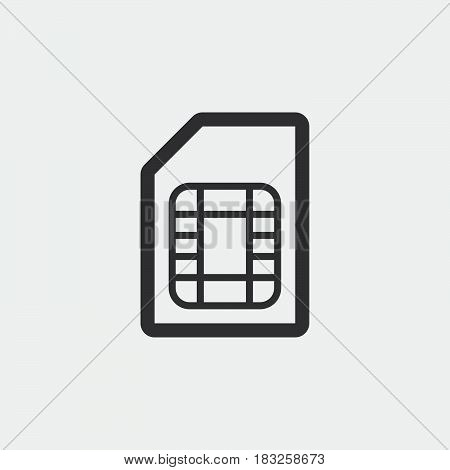 sim card icon isolated on white background .