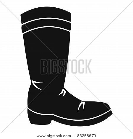 Cowboy boot icon in simple style isolated on white background vector illustration