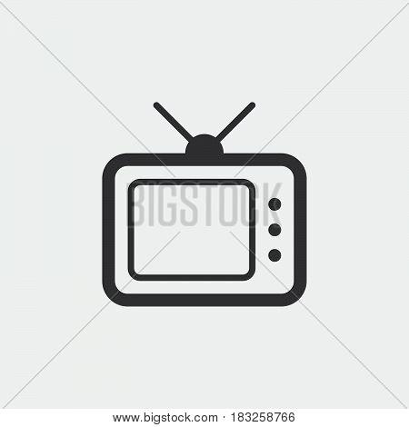 TV icon isolated on white background .