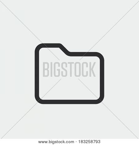 folder icon isolated on white background .