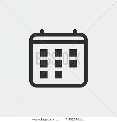 calendar icon isolated on white background .