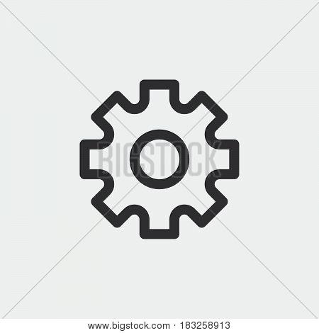 settings icon isolated on white background .