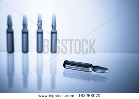 Ampoules With Medicine Closeup