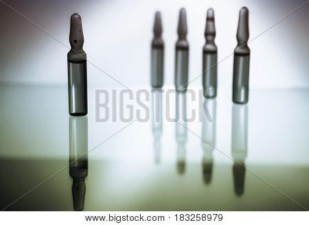 Ampoules With Medicine Closeup
