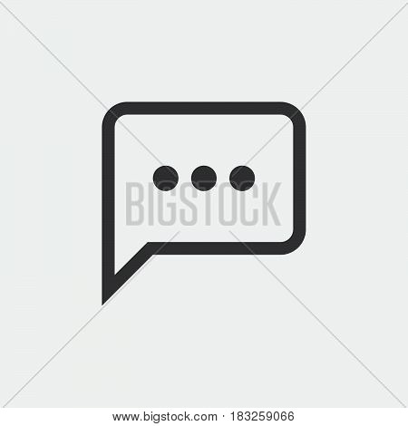 sms icon isolated on white background .