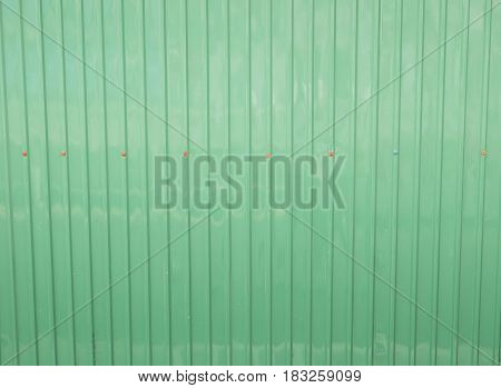 The green zinc stripe for wall and background