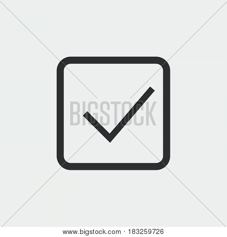 Check mark icon isolated on white background .
