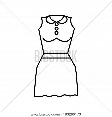 line casual blouse and short skirt cloth, vector illustration design