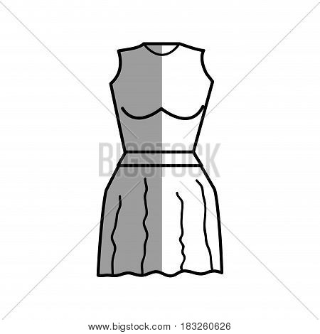 figure, casual blouse and short skirt cloth, vector illustration design