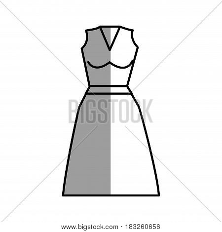 figure casual blouse and skirt cloth style, vector illustration