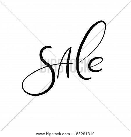 Sale. Hand Lettering Inscription. Vector Handwritten Text. Modern Calligraphy
