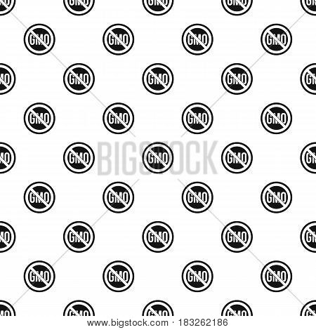 Stop GMO pattern seamless in simple style vector illustration
