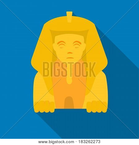 Sphinx icon in flat style isolated on white background. Ancient Egypt symbol vector illustration.