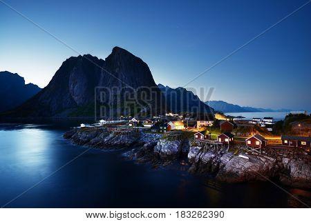 Hamnoy at summer, Lofoten islands