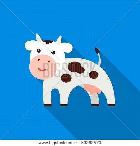 Cow flat icon. Illustration for web and mobile.