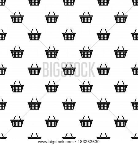 Plastic shopping basket pattern seamless in simple style vector illustration