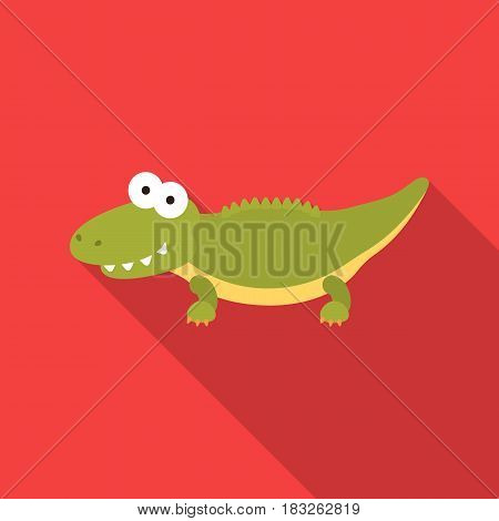Crocodile flat icon. Illustration for web and mobile.