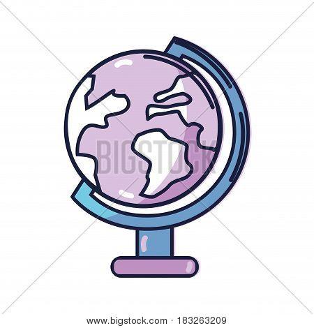 earth planet desk tool decoration, vector illustration