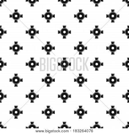 Pipe fitting pattern seamless in simple style vector illustration