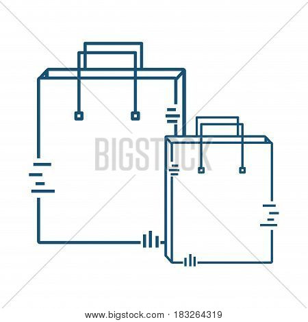 bags pack to delivery services, vector illustration image