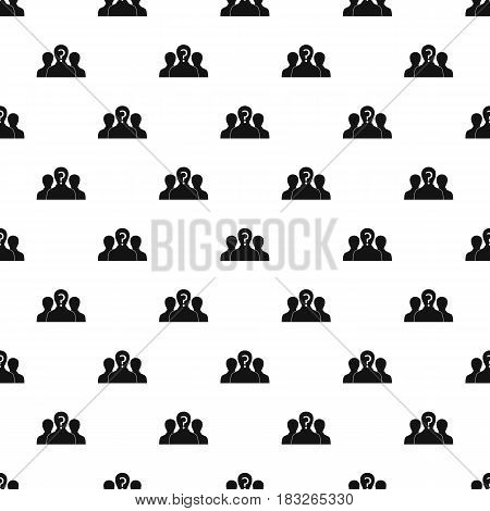 Group of people with unknown personality pattern seamless in simple style vector illustration