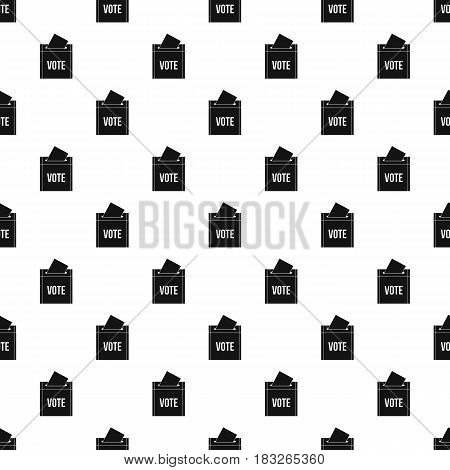 Ballot box pattern seamless in simple style vector illustration