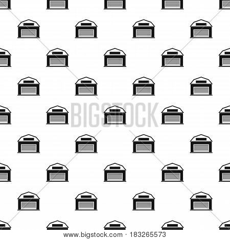 Industrial building pattern seamless in simple style vector illustration