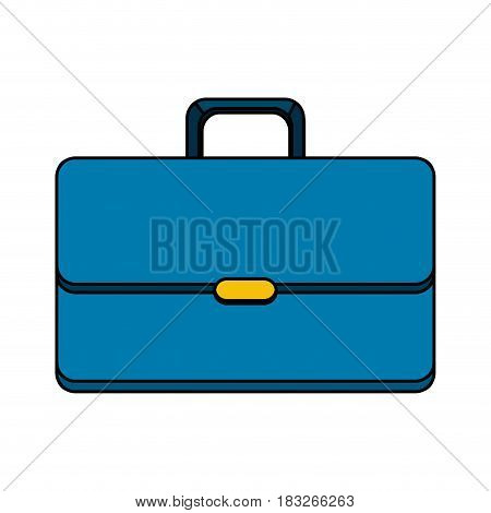 suitcase to save business documents, vector illustration design