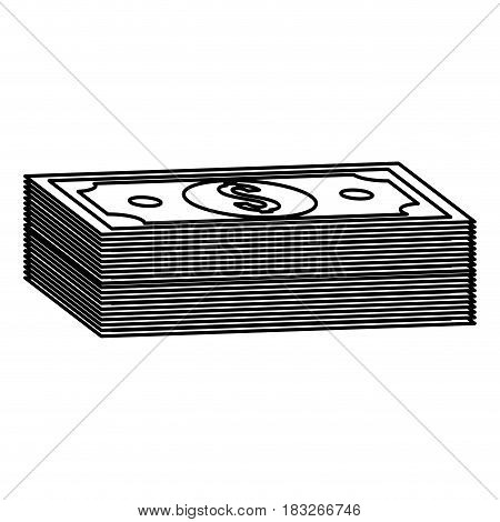 silhouette bill dolar money, vector illustration design