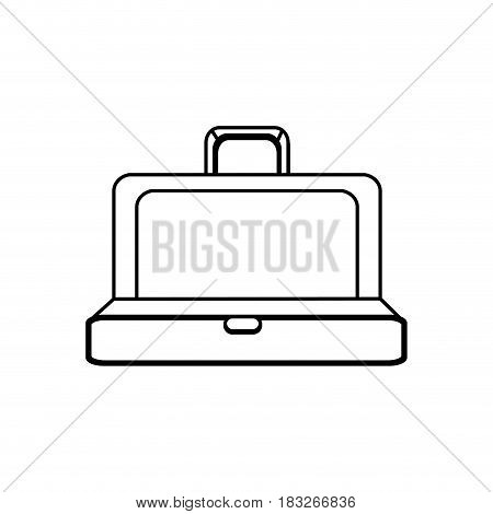 figure elegant suitcase open, vector illustration design