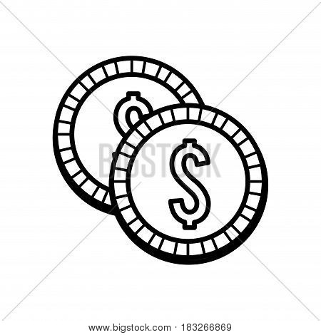 silhouette coins money save, vector illustration design