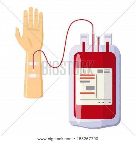 Donate blood icon. Cartoon illustration of donate blood vector icon for web